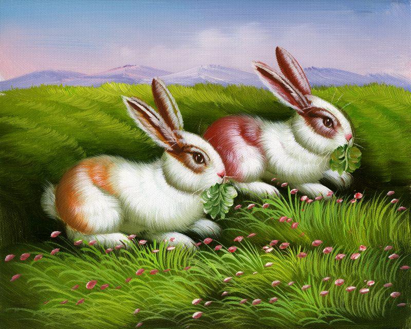 油画布系列 油画 动物 兔类   点击查看大图 编号: 1126280001 类型