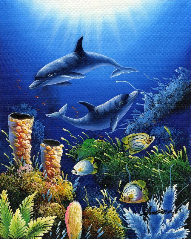 油画-海底世界一