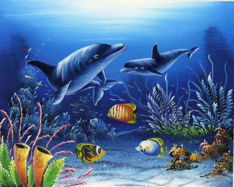 油画-海底世界六