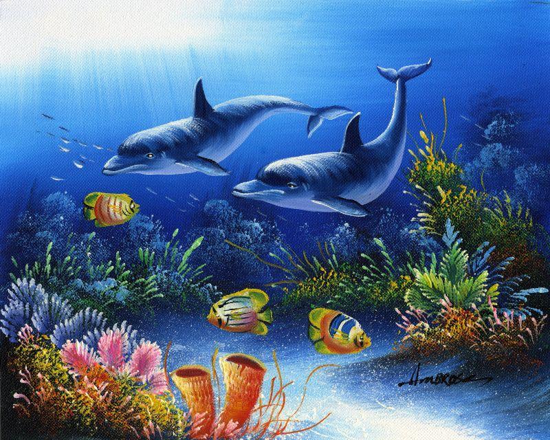 油画-海底世界三