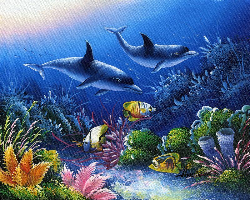 油画 海底世界二