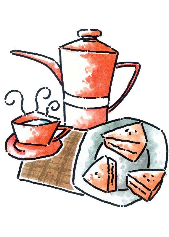 油画-下午茶