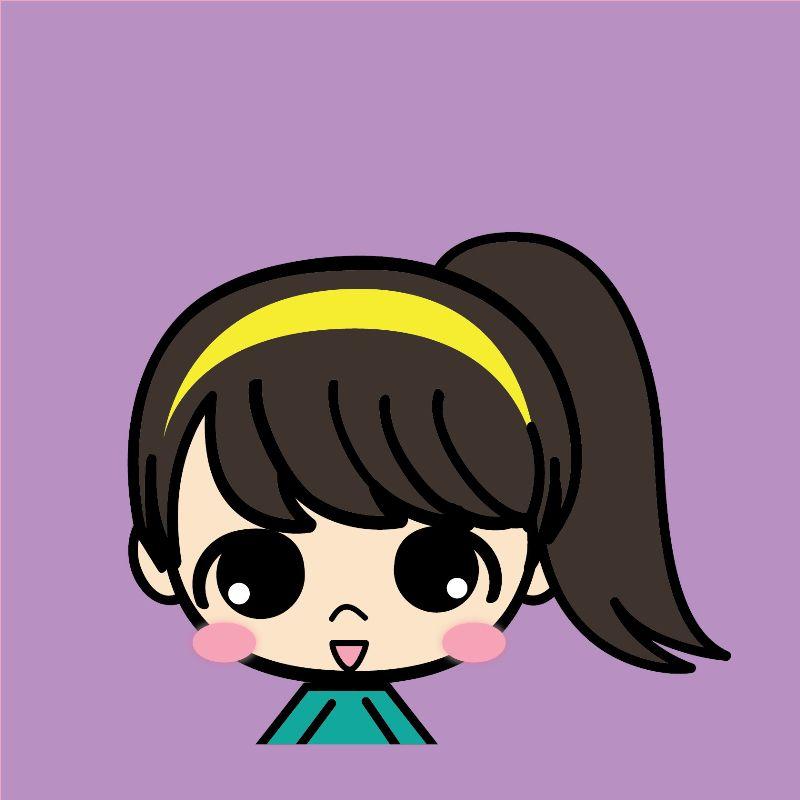 简约画-卡通可爱女孩